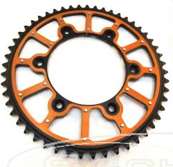 SCHREMS REAR SPROCKET ALU-STEEL FUSION PREMIUM 50-Z ORANGE/BLACK KTM MC/MX/EXC/EXC-F/SX/SX-F/LC-4 125-640 ALL MODELS 1991-, HUSQVARNA ALL MODELS TC/FC 125-505 14-, HUSABERG ALL MODELS 00-13