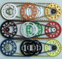 ON REQUEST OFFROAD CHAIN SET WITH THE DOSE FOR KIT SILVER / BLACK / OR COLOURED ON GAS GAS EC / MC 125 MODELS 2001