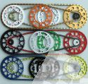 ON REQUEST OFFROAD CHAIN SET WITH THE DOSE FOR KIT SILVER / BLACK / OR COLOURED ON ALL 125-525 MODELLE 1990-